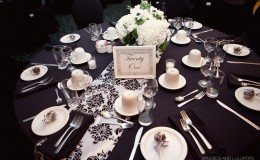 Black and white centerpiece Unmistakably You