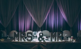 Mrs and Mr sign head table Unmistakably You