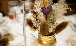 Non floral centerpiece Unmistakably You