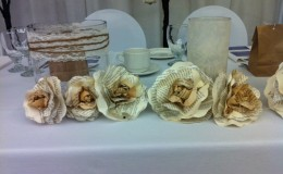 Paper flower head table Unmistakably You