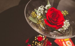 Red rose centerpiece Unmistakably You